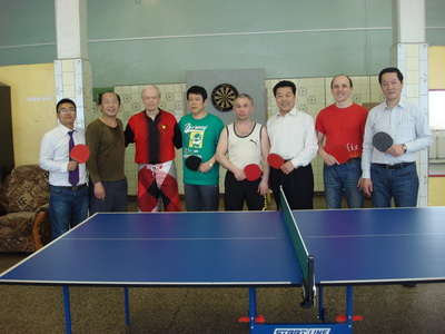table tennis match in russia